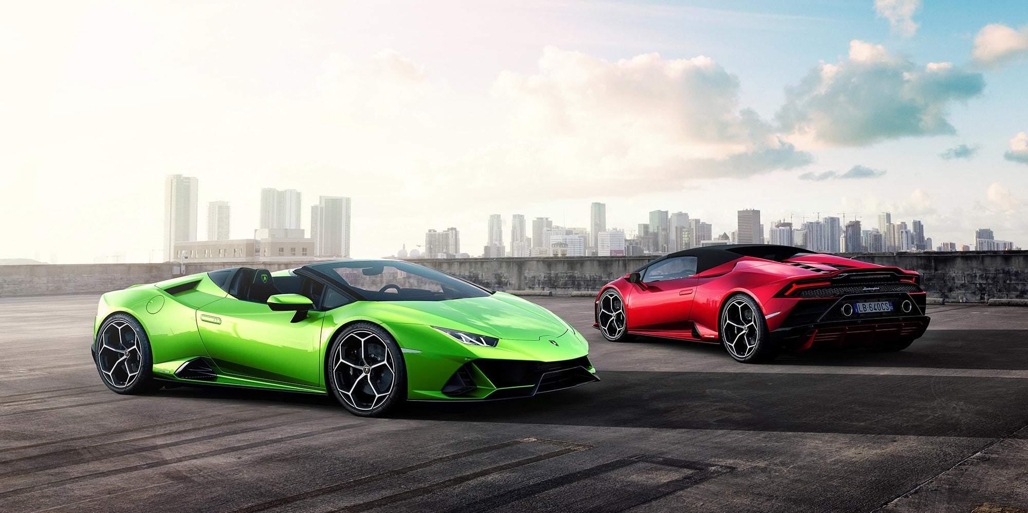 Rent a Lamborghini Huracán Evo Spyder